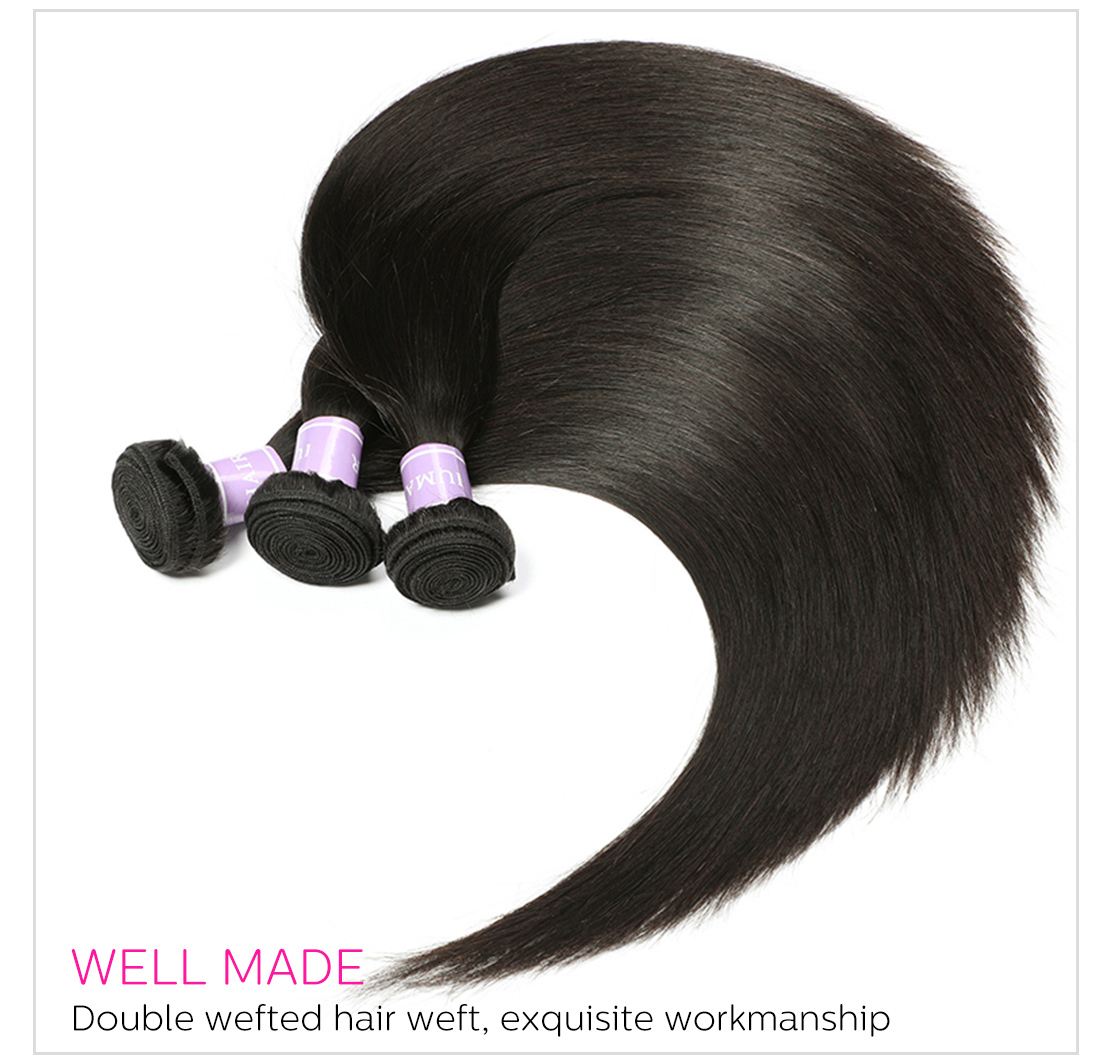 Straight virgin hair bundles wholesale