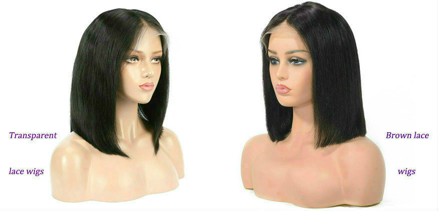 transparent lace front wig VS brown lace front wig