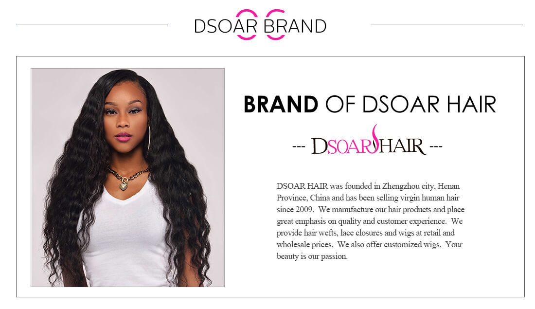DSoar Brazilian Straight Hair 613 Blonde Weave 3 Bundles With Lace Frontal